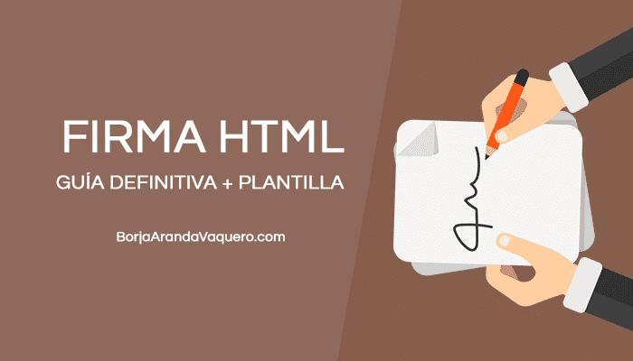 crear firma HTML para email