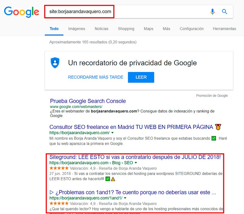 mejores paginas con google