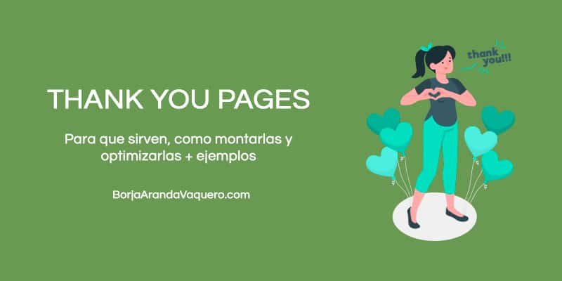 thank you pages o páginas de gracias